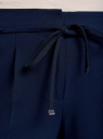 Брюки с декоративными завязками oodji для женщины (синий), 21705072-3/45094/7900N