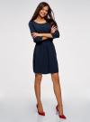 Платье вискозное с рукавом 3/4 oodji #SECTION_NAME# (синий), 11901153-1B/42540/7900N - вид 6