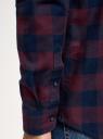 Рубашка хлопковая с длинным рукавом oodji #SECTION_NAME# (красный), 3L320016M/39882N/4979C - вид 5