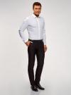 Рубашка базовая приталенного силуэта oodji для мужчины (белый), 3B110012M/23286N/1000N - вид 5