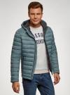 Куртка стеганая с капюшоном oodji #SECTION_NAME# (синий), 1B112009M/25278N/7501N - вид 2