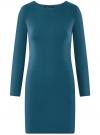 Платье базовое облегающего силуэта oodji #SECTION_NAME# (зеленый), 14011038B/38261/6C00N