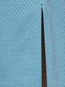Юбка прямая жаккардовая oodji #SECTION_NAME# (бирюзовый), 21601236-13/46373/7312D - вид 5