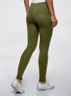 Брюки облегающие с декоративными карманами oodji для женщины (зеленый), 28600036/43127/6901N - вид 3