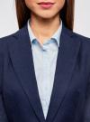 Жакет льняной с широким ремнем oodji #SECTION_NAME# (синий), 21202076-2/45503/7902N - вид 4