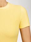 Платье трикотажное с коротким рукавом oodji для женщины (желтый), 14011007/45262/5200N - вид 5