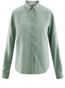 Блузка базовая из вискозы oodji #SECTION_NAME# (зеленый), 11411136B/26346/6012D