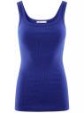 Майка базовая oodji для женщины (синий), 14315001B/45307/7501N