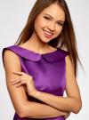 Платье приталенное с V-образным вырезом на спине oodji #SECTION_NAME# (фиолетовый), 12C02005/24393/8301N - вид 4