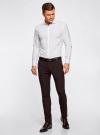 Рубашка базовая из фактурной ткани oodji #SECTION_NAME# (белый), 3B110017M/47184N/1000N - вид 6