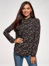 Блузка вискозная с нагрудными карманами oodji #SECTION_NAME# (черный), 21411126-1/48458/2945E - вид 2