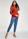 Блузка базовая из вискозы с нагрудными карманами oodji #SECTION_NAME# (красный), 11411127B/26346/4501N - вид 6