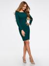 Платье трикотажное облегающего силуэта oodji для женщины (зеленый), 14001183B/46148/6E01N - вид 6