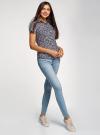Рубашка хлопковая с нагрудными карманами oodji #SECTION_NAME# (синий), 11402084-3B/12836/7945F - вид 6