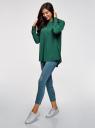Блузка вискозная А-образного силуэта oodji #SECTION_NAME# (зеленый), 21411113B/42540/6E01N - вид 6