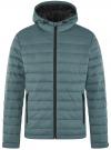 Куртка стеганая с капюшоном oodji #SECTION_NAME# (синий), 1B112009M/25278N/7501N