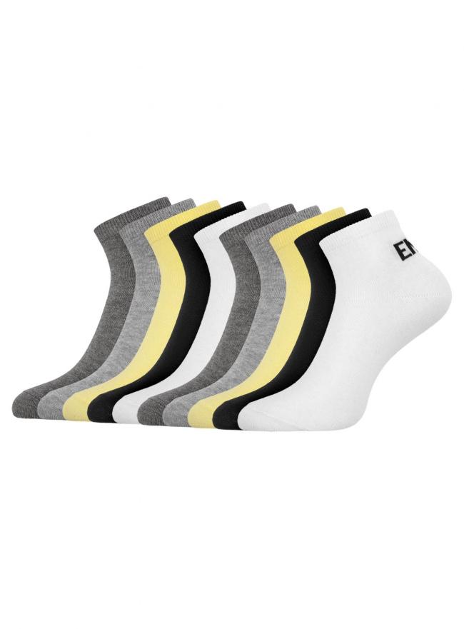 Комплект укороченных носков (10 пар) oodji для женщины (разноцветный), 57102418T10/47469/19U4P