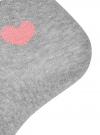 Комплект из трех пар хлопковых носков oodji для женщины (серый), 57102705T3/48022/14 - вид 3