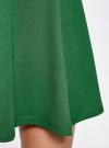 Юбка трикотажная расклешенная oodji #SECTION_NAME# (зеленый), 14102001B/38261/6E00N - вид 4