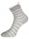 Комплект из трех пар хлопковых носков oodji для женщины (разноцветный), 57102802-3T3/47613/26