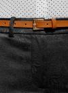 Брюки жаккардовые с ремнем oodji для женщины (черный), 21706021/45478/2900N - вид 4