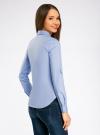 Рубашка базовая с нагрудными карманами oodji #SECTION_NAME# (синий), 11403222B/42468/7000N - вид 3