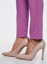 Брюки облегающие на эластичном поясе oodji для женщины (розовый), 11706196B/42250/4701N