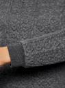 Свитшот из фактурной ткани oodji для женщины (серый), 24801010-6/46005/2500M