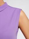 Блузка базовая без рукавов с воротником oodji #SECTION_NAME# (фиолетовый), 11411084B/43414/4C00N - вид 5