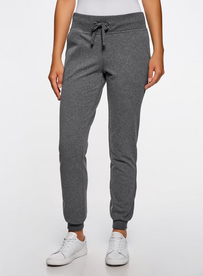 Комплект трикотажных брюк (2 пары) oodji #SECTION_NAME# (серый), 16700030-15T2/47906/2500M