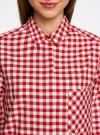Рубашка свободного силуэта с регулировкой длины рукава oodji #SECTION_NAME# (красный), 11411099-1/43566/4512C - вид 4