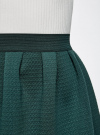 Юбка из фактурной ткани на эластичном поясе oodji #SECTION_NAME# (зеленый), 14100019-1/43642/6C00N - вид 4