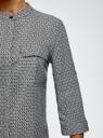 Блузка вискозная с нагрудными карманами oodji #SECTION_NAME# (серый), 11403225-7B/42540/2930G - вид 5