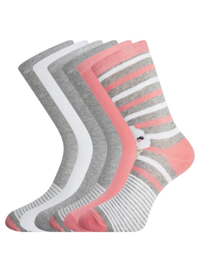 Комплект высоких носков (6 пар) oodji для женщины (разноцветный), 57102902T6/47469/19