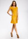 Платье трикотажное с воланами oodji #SECTION_NAME# (желтый), 14011017/46384/5200N - вид 6