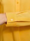 Блузка вискозная А-образного силуэта oodji #SECTION_NAME# (желтый), 21411113B/26346/5200N - вид 5