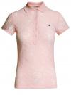 Поло из фактурной ткани с вышивкой oodji #SECTION_NAME# (розовый), 19301006/46656/4000O