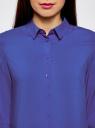Блузка базовая из вискозы oodji #SECTION_NAME# (синий), 11411136B/26346/7503N - вид 4