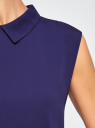 Блузка базовая без рукавов с воротником oodji #SECTION_NAME# (фиолетовый), 11411084B/43414/7502N - вид 5