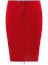 Юбка трикотажная на молнии спереди oodji #SECTION_NAME# (красный), 24100033-2/43302/4500N