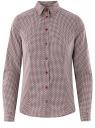 Рубашка хлопковая приталенного силуэта oodji #SECTION_NAME# (красный), 23K02001/48461/1249G