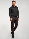 Рубашка базовая приталенная oodji #SECTION_NAME# (черный), 3B140000M/34146N/2900N - вид 6