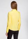 Рубашка приталенная с V-образным вырезом oodji #SECTION_NAME# (желтый), 11402092B/42083/6700N - вид 3