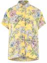 Блузка вискозная свободного силуэта oodji для женщины (желтый), 11405139-1/24681/5241F