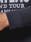 Свитшот прямого силуэта с надписями oodji #SECTION_NAME# (синий), 5L113128M-1/44396N/7912P - вид 5