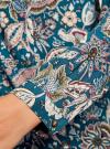 Блузка из вискозы принтованная с воротником-стойкой oodji #SECTION_NAME# (синий), 21411063-2/26346/744AF - вид 5