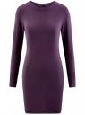 Платье базовое из вискозы с пуговицами на рукаве oodji #SECTION_NAME# (фиолетовый), 73912217-1B/33506/8800N