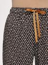 Брюки вискозные на завязках oodji для женщины (черный), 13F11001-1B/26346/2912G - вид 5
