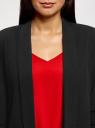 Жакет без застежки с рукавом 3/4 oodji для женщины (черный), 11207010-3B/31270/2910S