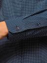 Рубашка хлопковая с нагрудным карманом  oodji #SECTION_NAME# (синий), 13K03013-1/36217/7910D - вид 5